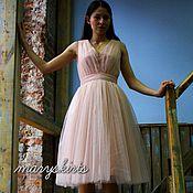 Одежда ручной работы. Ярмарка Мастеров - ручная работа Фатиновое платье с пышной юбкой зефир. Handmade.