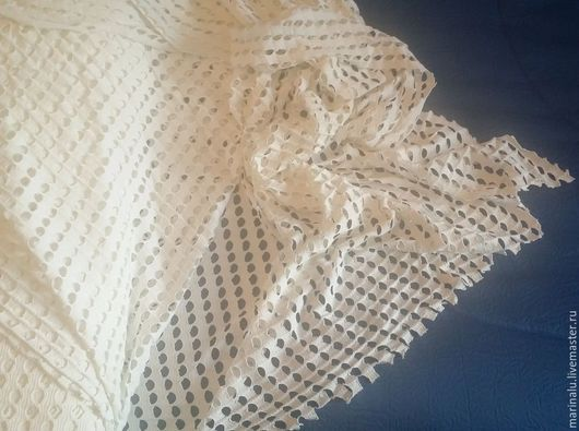 Шитье ручной работы. Ярмарка Мастеров - ручная работа. Купить Ткань (трикотаж) для пошива одежды. Handmade. Белый, вискоза 30%