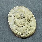 Исключительная старинная брошь камея лава 19 век