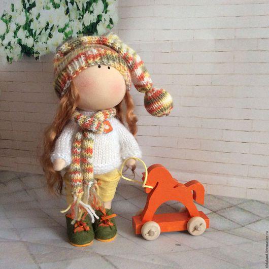 Куклы тыквоголовки ручной работы. Ярмарка Мастеров - ручная работа. Купить Люси. Handmade. Комбинированный, белый ангел, мохер