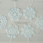 Подарки к праздникам handmade. Livemaster - original item Set of snowflakes. Lace. snowflake lace. Handmade.