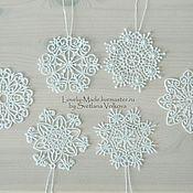 Украшения ручной работы. Ярмарка Мастеров - ручная работа Набор снежинок. Кружево. Snowflake lace. Handmade.