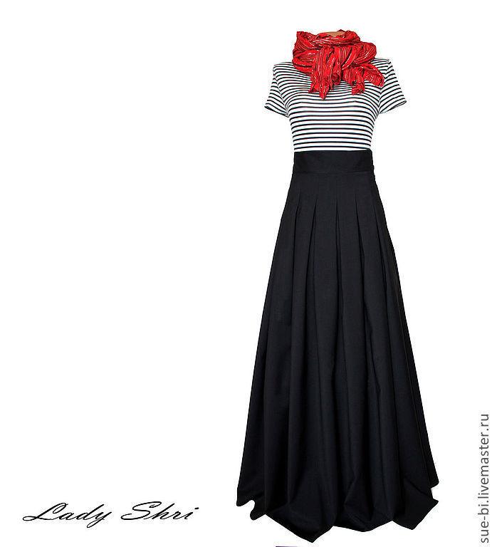 Длинная юбка на заказ