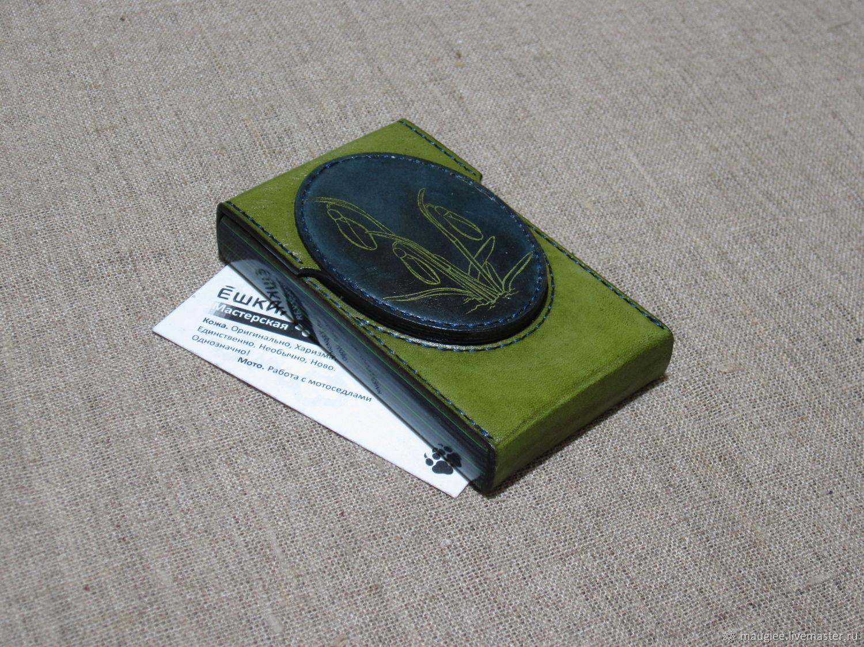 Cigarette case. sigaretta. Slims.  Thin cigarettes. Snowdrops 2, Cigarette cases, Nizhnij Tagil,  Фото №1