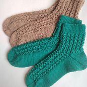 Аксессуары handmade. Livemaster - original item Socks: Women`s socks knitted from wool Chain. Handmade.