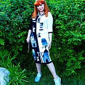 """Одежда ручной работы. Ярмарка Мастеров - ручная работа Летнее платье """"ЛЕТО 2017-8""""- хлопок 100 %, ручная работа. Handmade."""