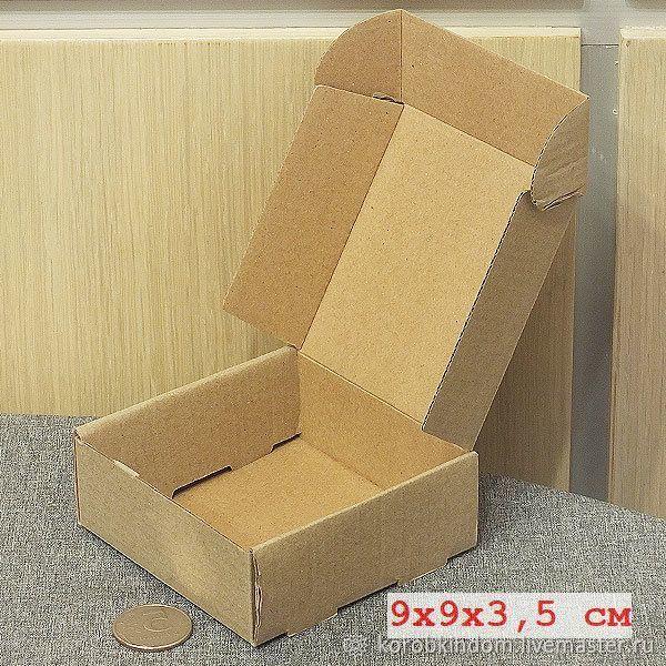 9х9х3,5 из микрогофрокартона коричневого коробка с откидной крышкой, Упаковка, Санкт-Петербург, Фото №1