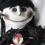Куклы и игрушки ручной работы. Ярмарка Мастеров - ручная работа Ведьмочка с котиком.. Handmade.