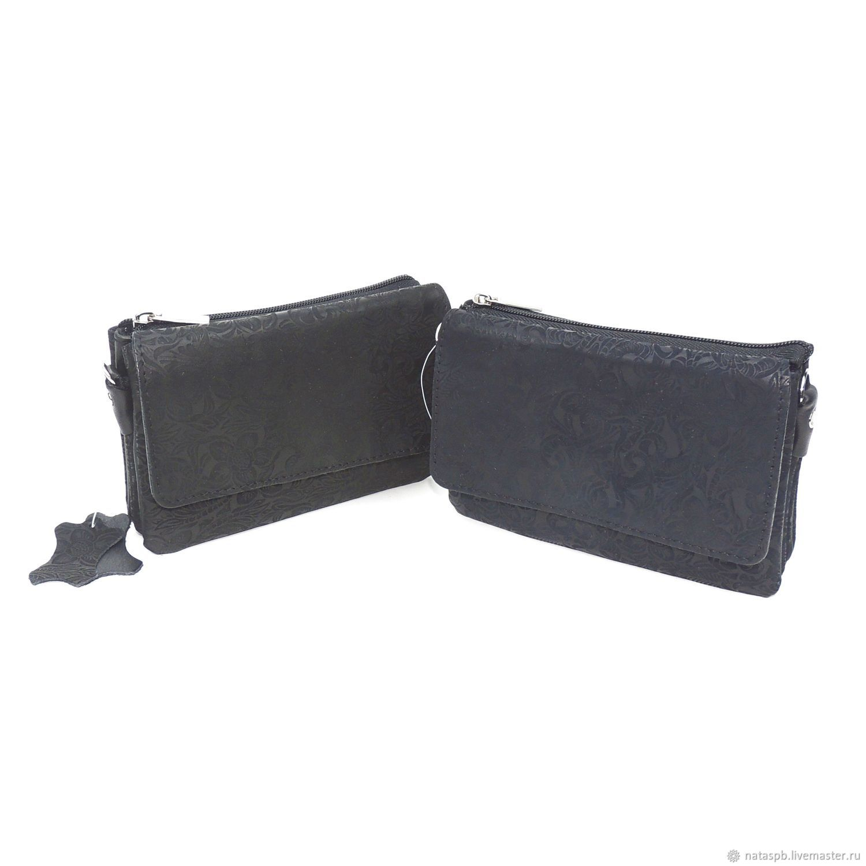Women's leather handbag black dark blue Silt Fashion S53, Classic Bag, St. Petersburg,  Фото №1