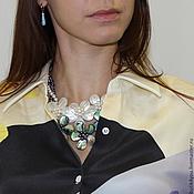 Necklace handmade. Livemaster - original item Bib-necklaces