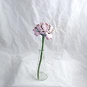 Для дома и интерьера handmade. Livemaster - original item Ceramic peony on a stalk Pink. Handmade.