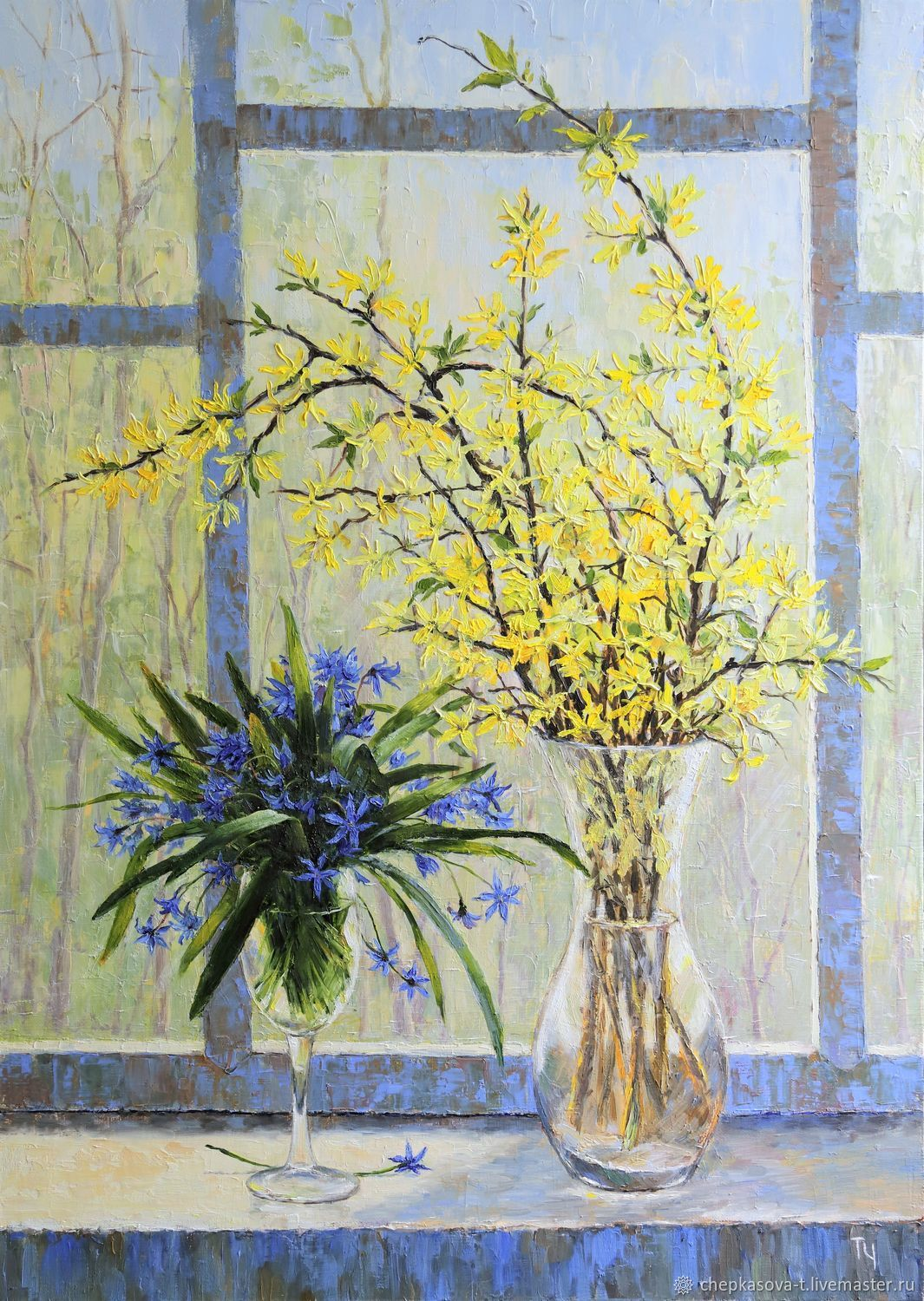 Spring duet. Oil painting. 2018, Pictures, Moscow,  Фото №1