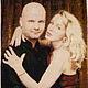 Люди, ручной работы. Ярмарка Мастеров - ручная работа. Купить Портрет чешским бисером. Handmade. Бордовый, канва