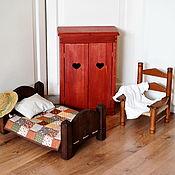 Мебель для кукол ручной работы. Ярмарка Мастеров - ручная работа Мебель для кукол. Шкаф, стул, кроватка для куклы.. Handmade.
