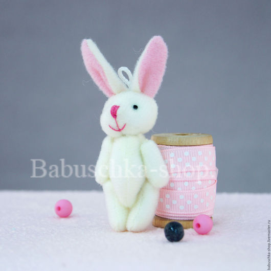 Куклы и игрушки ручной работы. Ярмарка Мастеров - ручная работа. Купить Зайка для куклы, 5,5 см. Handmade. Разноцветный
