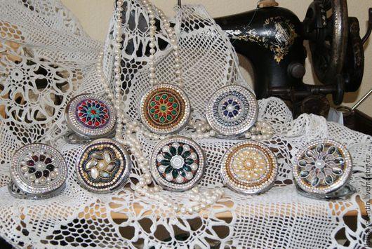 Украшения для сумок ручной работы. Ярмарка Мастеров - ручная работа. Купить Зеркальце для дам. Handmade. Белый, белый жемчуг