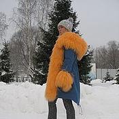 """Одежда ручной работы. Ярмарка Мастеров - ручная работа Куртка-парка """" Апельсинчик """". Handmade."""