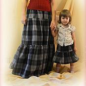 Одежда handmade. Livemaster - original item Skirt warm long