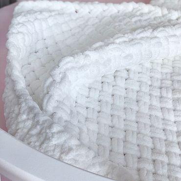 Текстиль ручной работы. Ярмарка Мастеров - ручная работа Детский плед из плюшевой пряжи. Handmade.