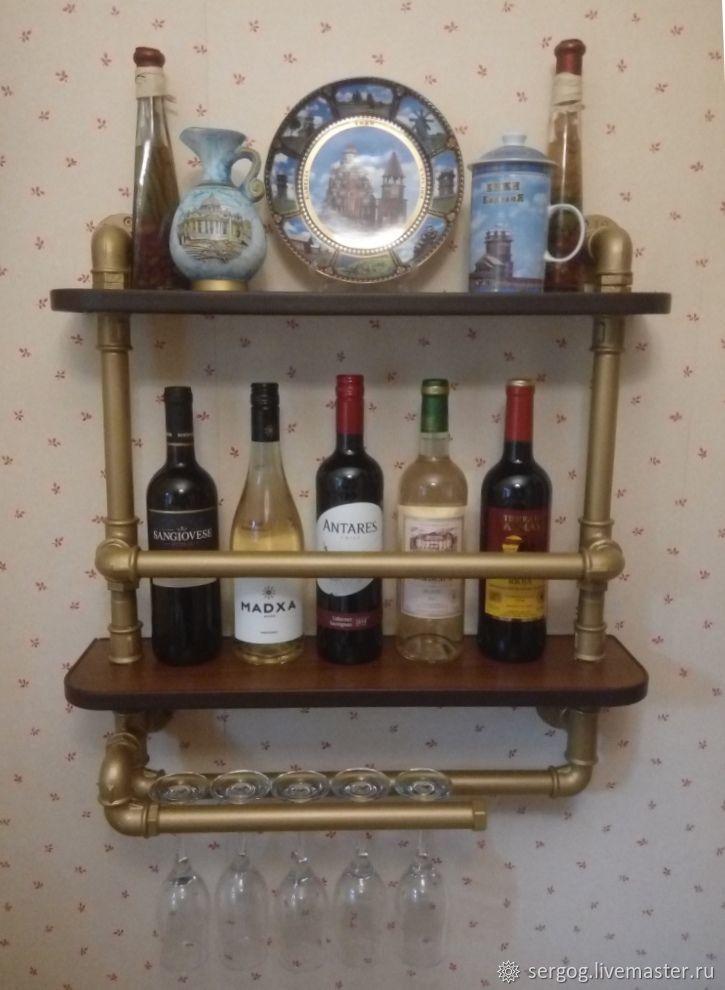 Полка для вина на кухню, Полки, Москва,  Фото №1