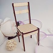 Материалы для творчества handmade. Livemaster - original item Doll chair 15h7h6 cm. Blank from plywood 4 mm. Handmade.