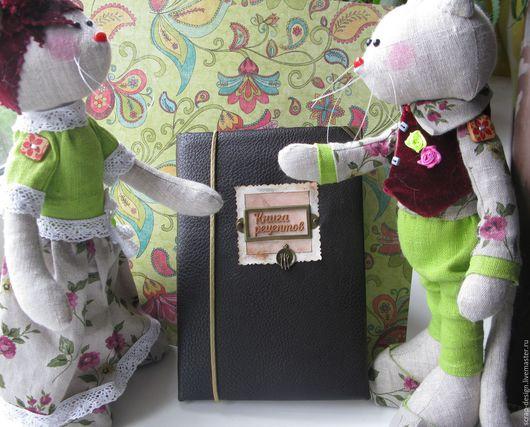 """Кулинарные книги ручной работы. Ярмарка Мастеров - ручная работа. Купить Блокнот """"Книга рецептов"""", винтаж,подарок девушке. Handmade."""