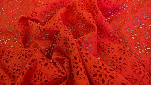 Шитье ручной работы. Ярмарка Мастеров - ручная работа. Купить Итальянское шитье красного и белого цветов. Хлопок. Handmade.