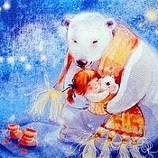"""Картины ручной работы. Ярмарка Мастеров - ручная работа Картина маслом """"Теплые сны"""".. Handmade."""