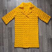 Одежда ручной работы. Ярмарка Мастеров - ручная работа Пальто желтое с шишечками. Handmade.
