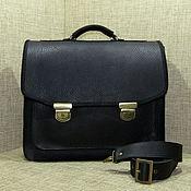 Сумки и аксессуары handmade. Livemaster - original item Men`s leather briefcase RICHARD black. Handmade.