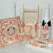 """Свадебный салон ручной работы. Ярмарка Мастеров - ручная работа Свадебный набор """"Цветочная феерия"""". Handmade."""
