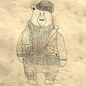 Картины и панно ручной работы. Ярмарка Мастеров - ручная работа Медведь. Иллюстрации на заказ.. Handmade.