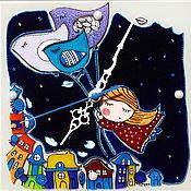 """Для дома и интерьера ручной работы. Ярмарка Мастеров - ручная работа Часы """"Во сне"""". Handmade."""