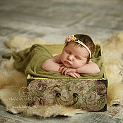 Работы для детей, ручной работы. Ярмарка Мастеров - ручная работа Ящик для фотосъемки новорожденного / авторский реквизит. Handmade.