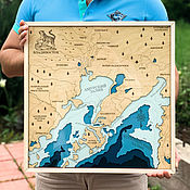 Картины и панно handmade. Livemaster - original item Map Of Vladivostok. Handmade.