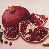 "Картины и панно handmade. Livemaster - original item ""Любимый фрукт"", гранаты, картина маслом, натюрморт. Handmade."