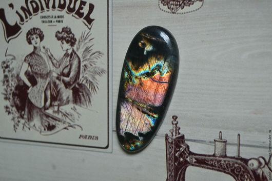 Для украшений ручной работы. Ярмарка Мастеров - ручная работа. Купить Лабрадорит спектролит. Кабошон 57 Х 25 Х 6.5. Handmade.