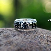 Украшения handmade. Livemaster - original item Runic ring (runic circle Futhark the older). Handmade.