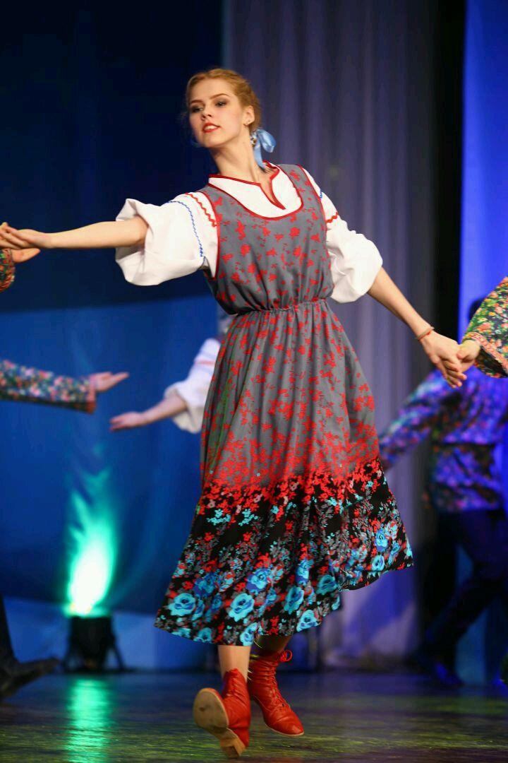 Костюм для танцев. Сарафан и блуза в русском стиле, Танцевальные костюмы, Орехово-Зуево, Фото №1