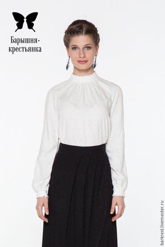 """Блузки ручной работы. Ярмарка Мастеров - ручная работа. Купить Блуза """"Леди"""" (длинный рукав). Handmade. Белый, православный наряд"""