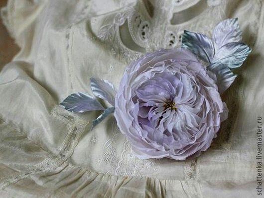 Цветы ручной работы. Ярмарка Мастеров - ручная работа. Купить Роза Дэвида Остина. Handmade. Бледно-сиреневый, староанглийская роза