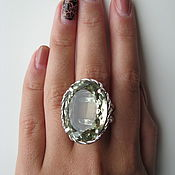 Украшения handmade. Livemaster - original item Ring with green amethyst. 925 sterling silver.. Handmade.