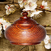 Для дома и интерьера handmade. Livemaster - original item A jug with a Textured lid and a pine Barrel K24. Handmade.