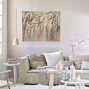 Pictures handmade. Livemaster - original item Painting in the interior with flowers
