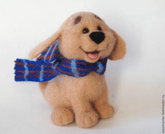 Игрушки животные, ручной работы. Ярмарка Мастеров - ручная работа. Купить Веселый щенок. Валяная игрушка из шерсти. Handmade. Собака