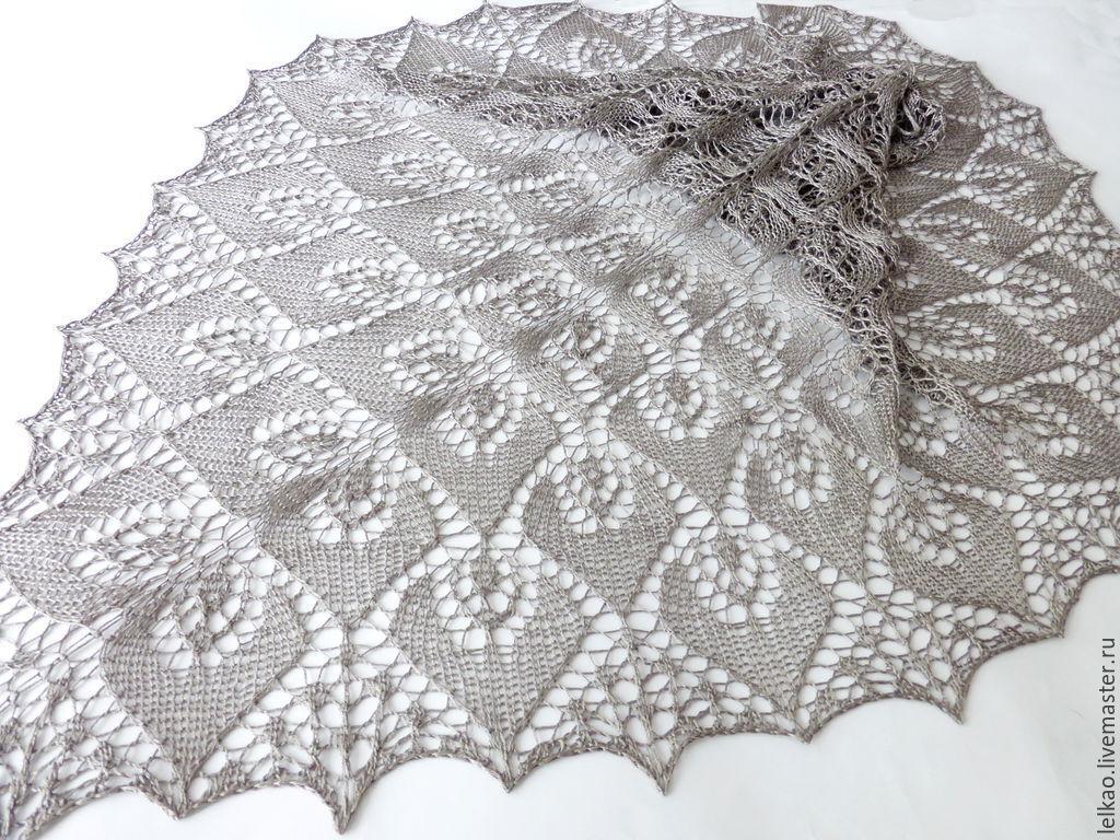 Openwork knitted Silk shawl, summer shawl knitting – shop online on ...
