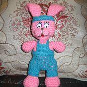 Куклы и игрушки ручной работы. Ярмарка Мастеров - ручная работа зайчик - мальчик. Handmade.