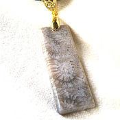 Украшения handmade. Livemaster - original item Elongated Pendant Fossil Coral. Handmade.