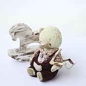 Куклы и игрушки ручной работы. Ярмарка Мастеров - ручная работа Сеня мишка тедди 11,5см. Handmade.