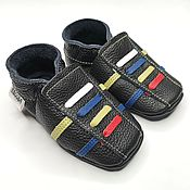 Работы для детей, handmade. Livemaster - original item Leather Baby Shoes,Baby Moccasins,Sport Baby Shoes,Ebooba. Handmade.